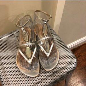 SERGIO ROSSI Thong Wrap Around Sandals SZ 36.5
